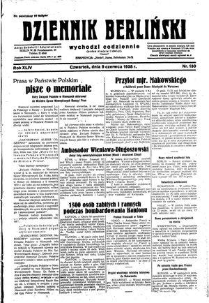 Dziennik Berliński vom 09.06.1938