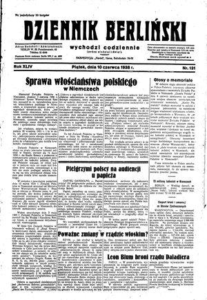 Dziennik Berliński vom 10.06.1938