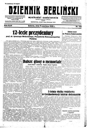 Dziennik Berliński vom 11.06.1938