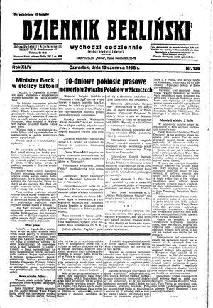 Dziennik Berliński vom 16.06.1938