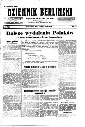 Dziennik Berliński vom 19.01.1939