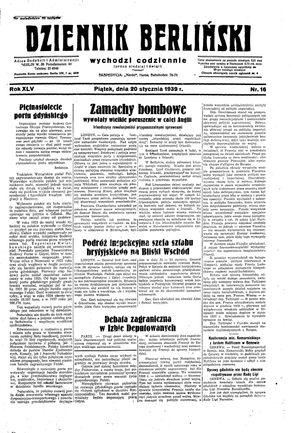 Dziennik Berliński vom 20.01.1939
