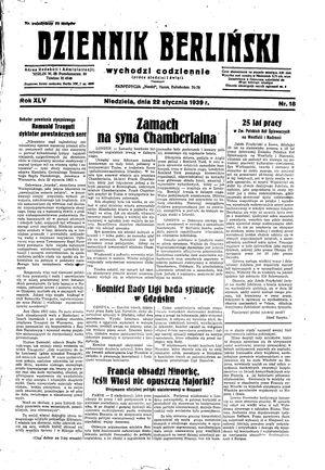 Dziennik Berliński on Jan 22, 1939