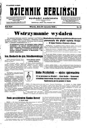 Dziennik Berliński vom 24.01.1939