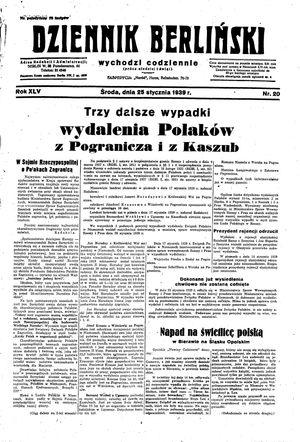 Dziennik Berliński vom 25.01.1939