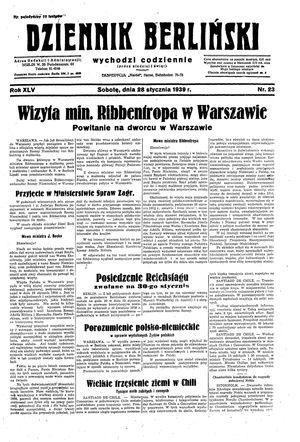 Dziennik Berliński vom 28.01.1939