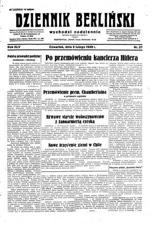 Dziennik Berliński vom 02.02.1939