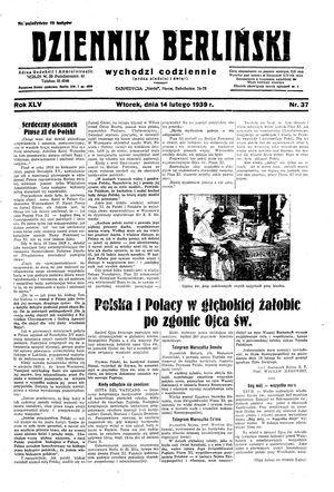 Dziennik Berliński vom 14.02.1939
