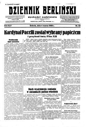 Dziennik Berliński vom 04.03.1939