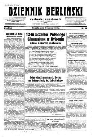 Dziennik Berliński vom 11.03.1939