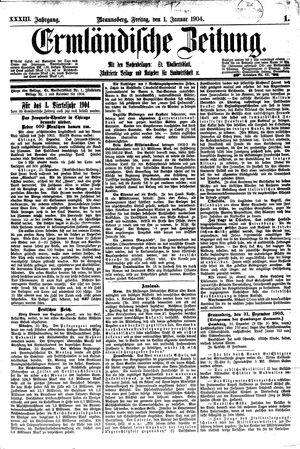 Ermländische Zeitung on Jan 1, 1904