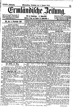 Ermländische Zeitung vom 05.01.1904