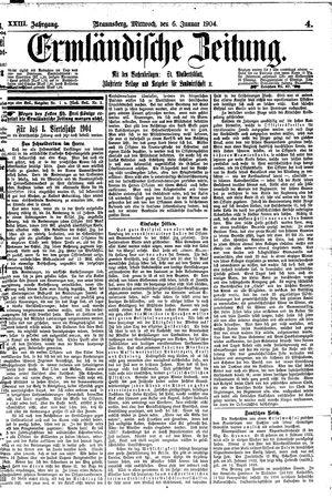 Ermländische Zeitung on Jan 6, 1904
