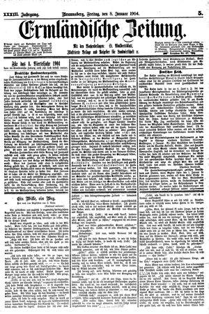 Ermländische Zeitung vom 08.01.1904