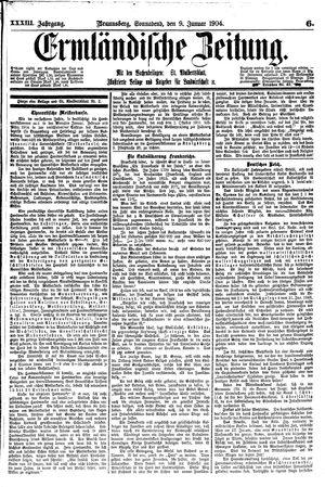 Ermländische Zeitung vom 09.01.1904