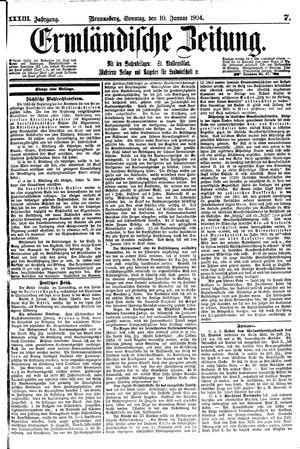 Ermländische Zeitung vom 10.01.1904