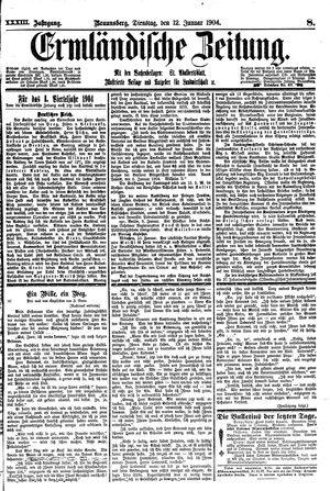 Ermländische Zeitung vom 12.01.1904