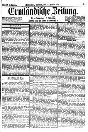 Ermländische Zeitung vom 13.01.1904