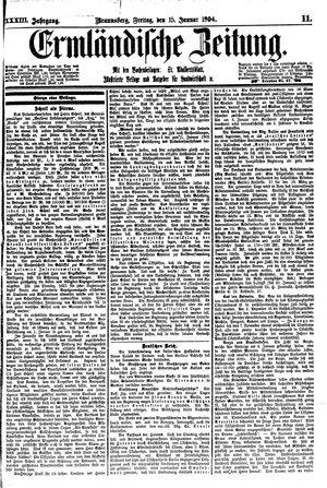 Ermländische Zeitung vom 15.01.1904