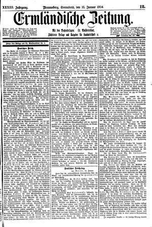 Ermländische Zeitung vom 16.01.1904