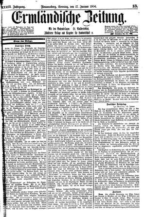 Ermländische Zeitung vom 17.01.1904