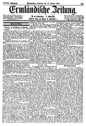 Ermländische Zeitung vom 19.01.1904