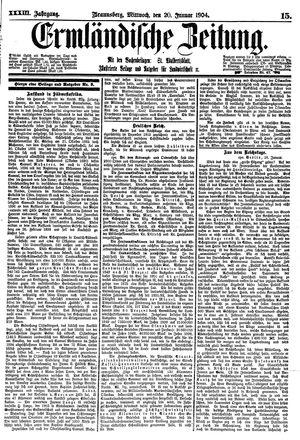 Ermländische Zeitung vom 20.01.1904