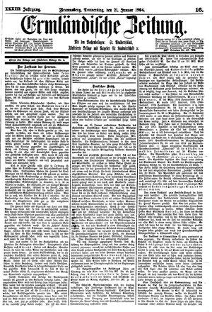 Ermländische Zeitung on Jan 21, 1904