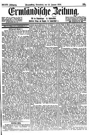 Ermländische Zeitung vom 23.01.1904