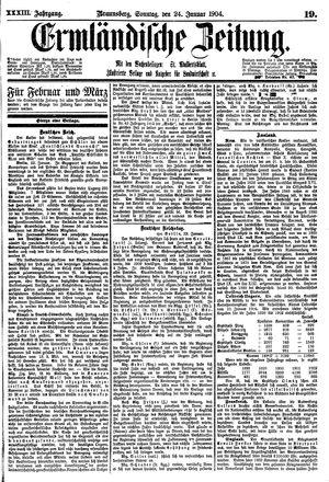 Ermländische Zeitung vom 24.01.1904