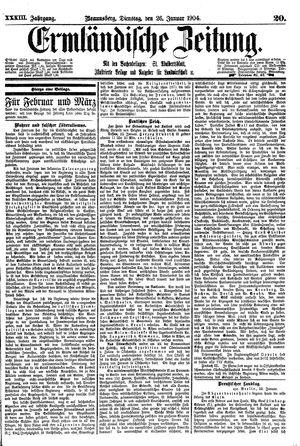 Ermländische Zeitung vom 26.01.1904
