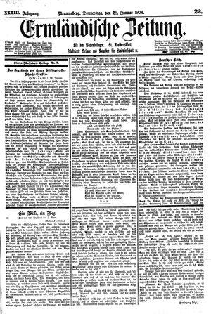 Ermländische Zeitung vom 28.01.1904