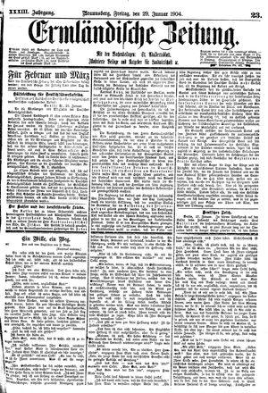 Ermländische Zeitung on Jan 29, 1904