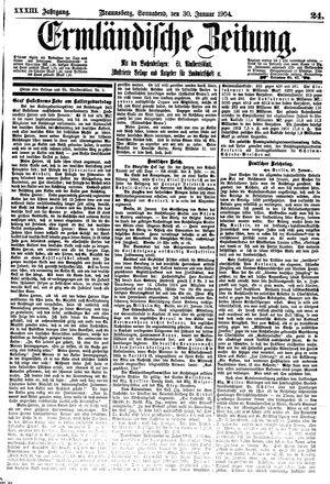 Ermländische Zeitung vom 30.01.1904