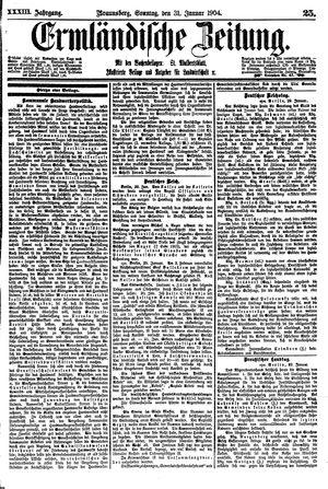 Ermländische Zeitung vom 31.01.1904