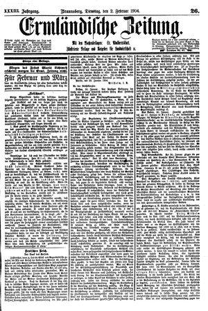 Ermländische Zeitung vom 02.02.1904