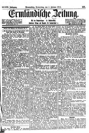 Ermländische Zeitung vom 04.02.1904