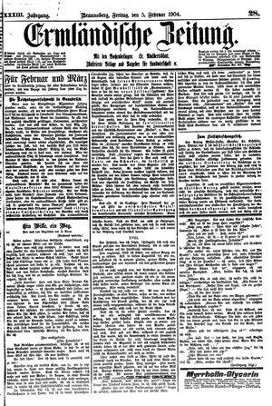 Ermländische Zeitung vom 05.02.1904