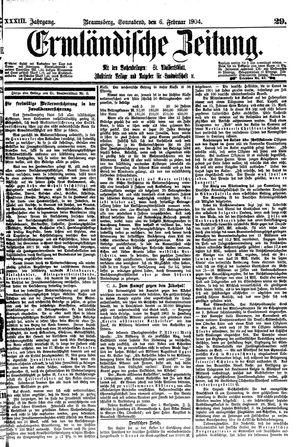 Ermländische Zeitung vom 06.02.1904