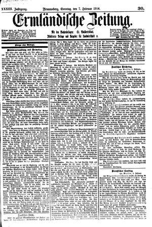 Ermländische Zeitung vom 07.02.1904