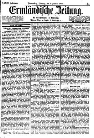 Ermländische Zeitung vom 09.02.1904