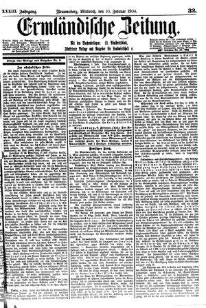 Ermländische Zeitung vom 10.02.1904
