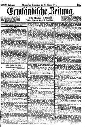 Ermländische Zeitung vom 11.02.1904