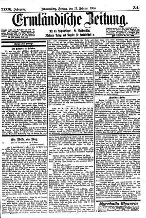 Ermländische Zeitung vom 12.02.1904