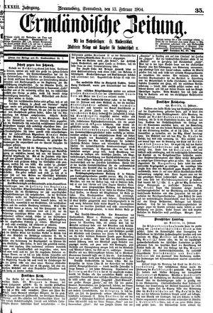Ermländische Zeitung vom 13.02.1904