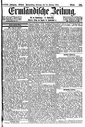 Ermländische Zeitung vom 14.02.1904