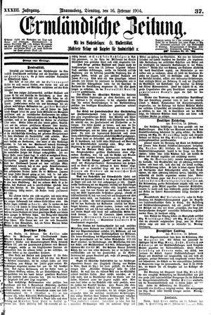 Ermländische Zeitung vom 16.02.1904