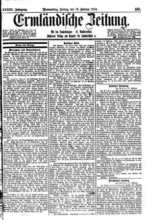Ermländische Zeitung vom 19.02.1904