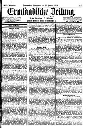 Ermländische Zeitung vom 20.02.1904