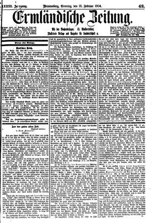 Ermländische Zeitung vom 21.02.1904